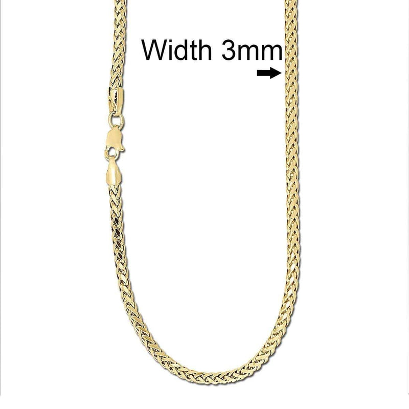 3MM gold palm chain
