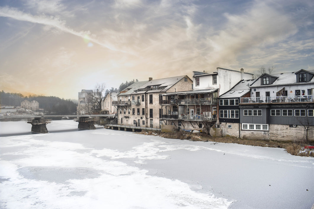 Elora village in the winter