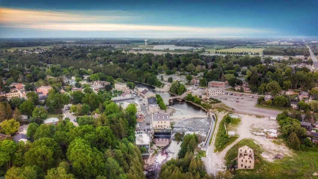 Aerial View of Elora