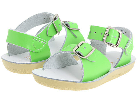 Sun San Surfer Saltwater Sandals Lime