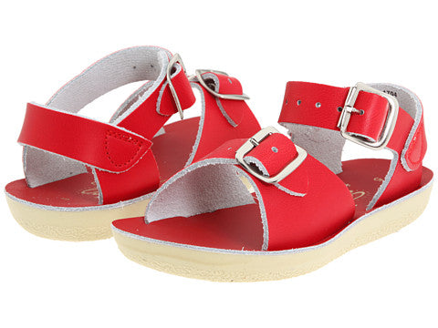 Sun San Surfer Saltwater Sandals Red