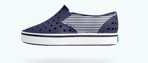 Native shoes Miles Block Regatta blue stripe