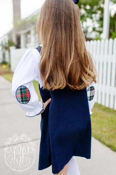 The Beaufort Bonnet Emma's elbow patch top Aiken place plaid