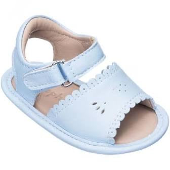 Elephantito sandal with scallop light blue
