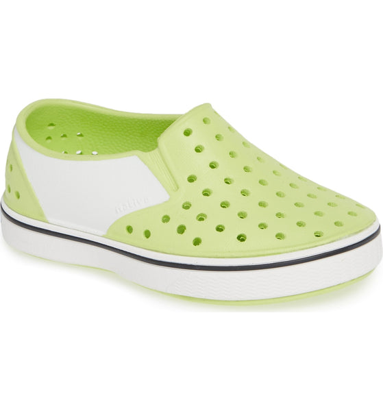 Native shoes miles sunny green shell white block