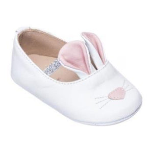 Elephantito bunny sleeper shoe in white