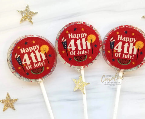 4th of July Fireworks Lollipops, Strawberry