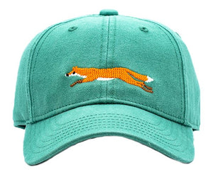 Harding Lane fox on moss green hat