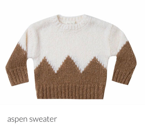 Rylee and Cru ivory caramel aspen sweater