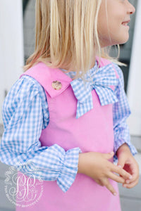 The Beaufort bonnet co. Hampton hot pink corduroy Juliet jumper dress