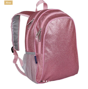 Pink glitter backpack 15""