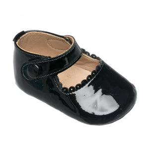 Elephantito baby Mary Jane patent black