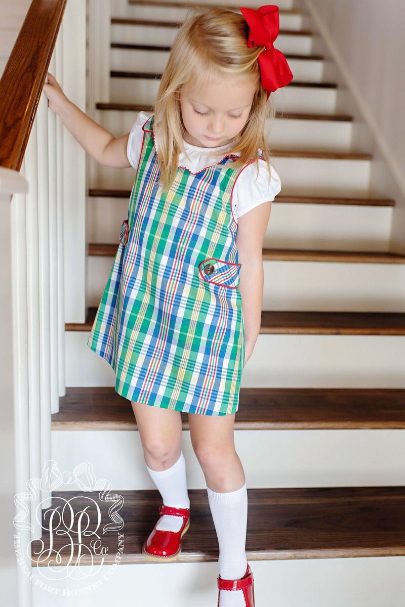 Janie Jumper Primary School Plaid with Richmond Red