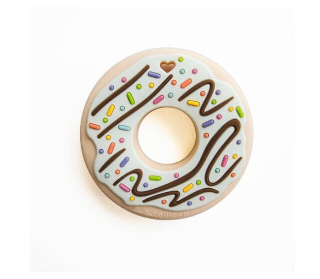 Lou Lou lollipop silicone teether mint donut
