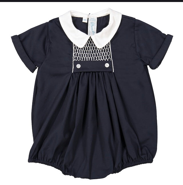 Feltman Brothers navy smocked bubble