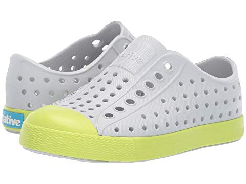 Native Shoes Jefferson mist grey with sunny green