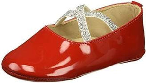 Elephantito baby crossed ballerina red patent