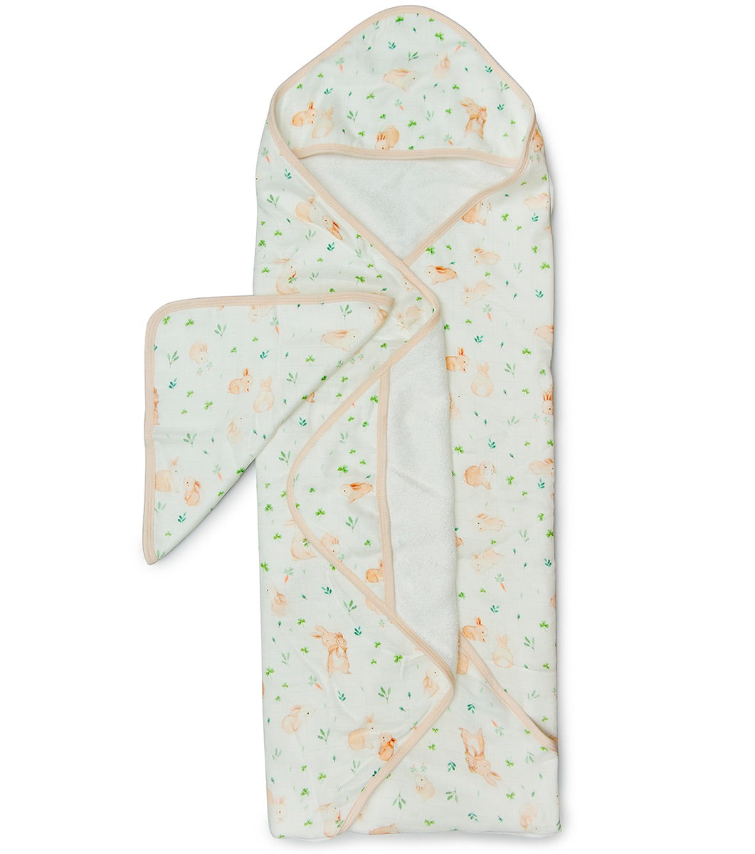 Lou Lou Lollipop hooded towel set bunny meadow
