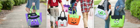 Halloween monogram treat bags (includes name or initials)