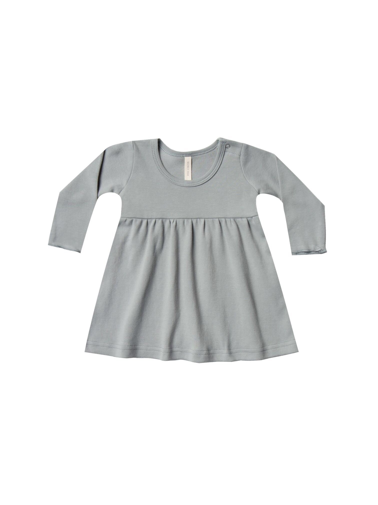 Quincy Mae baby dress dusty blue