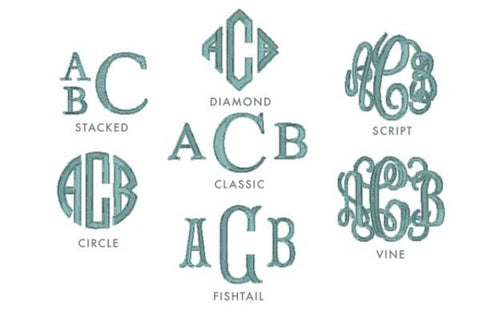 Add monogram to any item