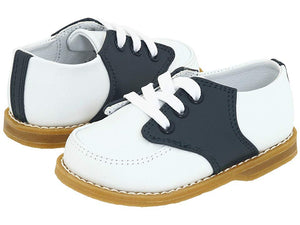 Baby deer saddle shoes white/navy