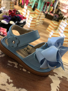Mooshu squeaker sandals sky blue bell
