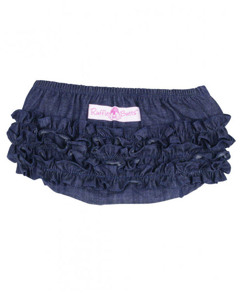 RuffleButts bloomers denim