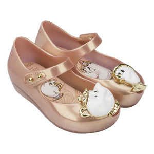 Mini Melissa Disney Beauty and The Beast metallic Pink