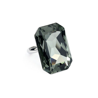 inel fashion cu cristale swarovski black diamond