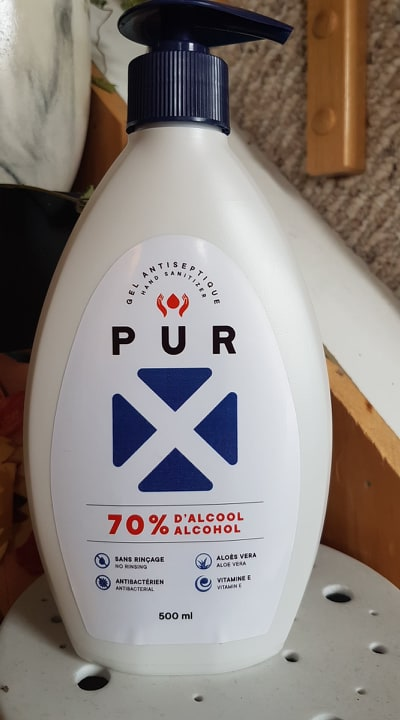 PUR X Gel antiseptique à base d'alcool
