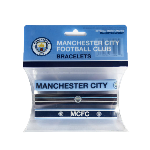 Manchester City Team Crest Assorted Band Bracelets (set of 3)