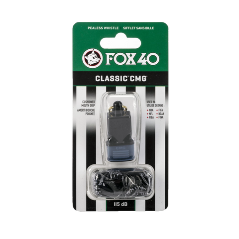 FOX 40 Classic CMG Pealess Whistle with Wrist Lanyard