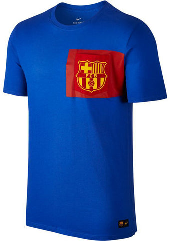 NIKE FC Barcelona Men's Crest T-Shirt