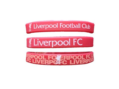 Liverpool FC Team Crest Assorted Band Bracelets (set of 3)
