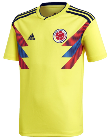 adidas Colombia FCF 2018 World Cup Youth Home Replica Jersey