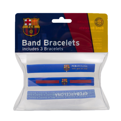 FC Barcelona Team Crest Assorted Band Bracelets (set of 3)