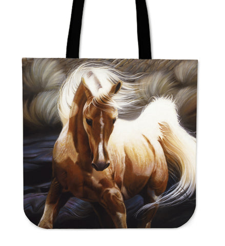 Magnificent Horse Tote Bags
