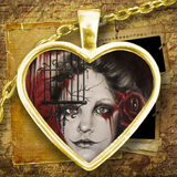 Sheena Pike Art - Gothic Girl Heart Necklace