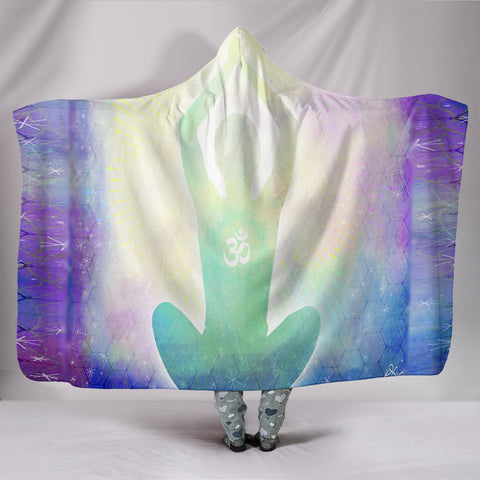 Aum Higher Vibration Yoga Hooded Blanket