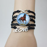 Horse leather handmade bracelet