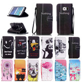 Calavera Leather Case for Samsung Galaxy S3 S4 S5 mini S6 Edge Plus Grand Core Prime G530 G360