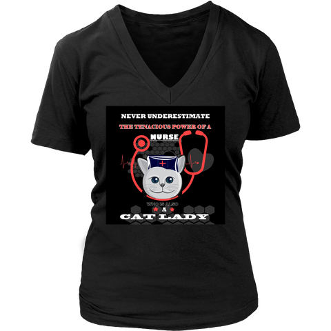 Cat Lady Nurse T-Shirt