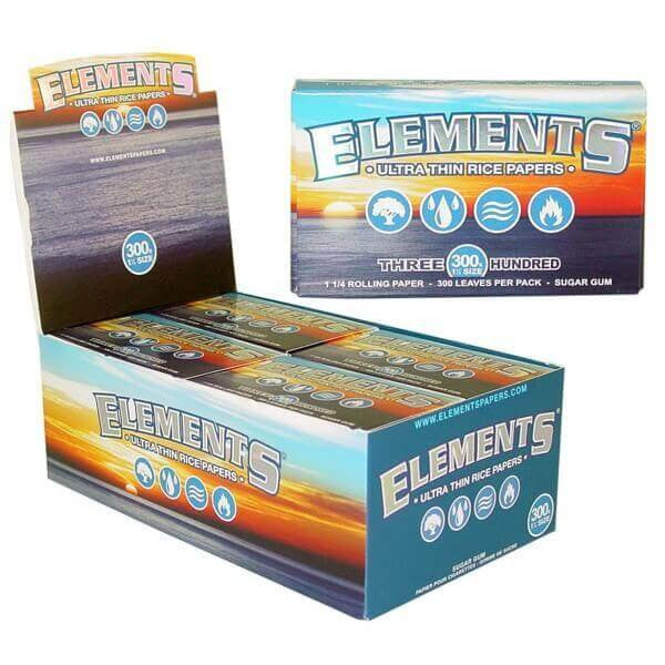 Elements 300 Ultra Thin Rice Rolling Papers 1 1/4
