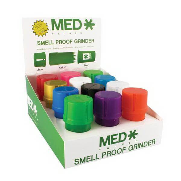 Medtainer Storage Container Assorted Colors (12pc Display)