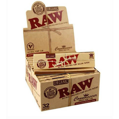 RAW Connoisseur Kingsize Organic (24 Per Box) by Raw