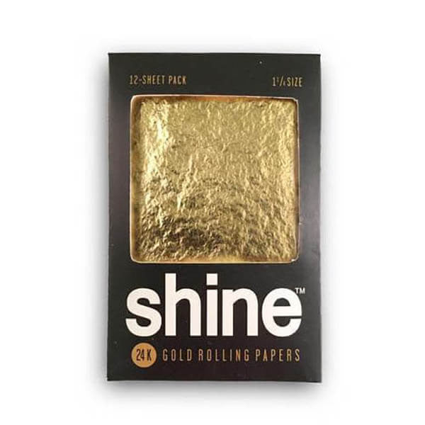 24k Gold Rolling Papers by Shine