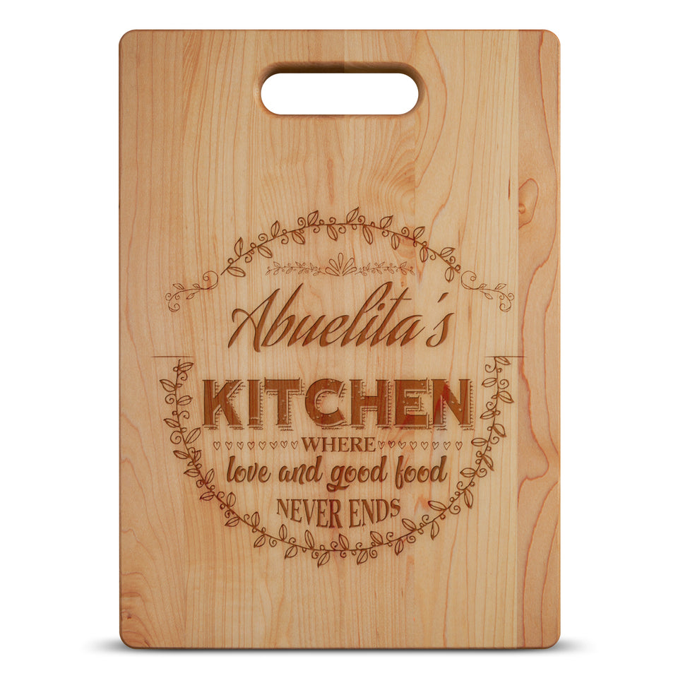 Personalized Name Cutting Board - Maple