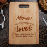 personalized Grandma Cutting board