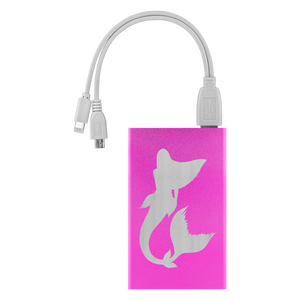 phone  charger pink with mermaid etch